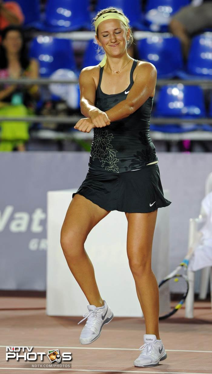 She showed that she was as good on the dance floor as she is on the court.