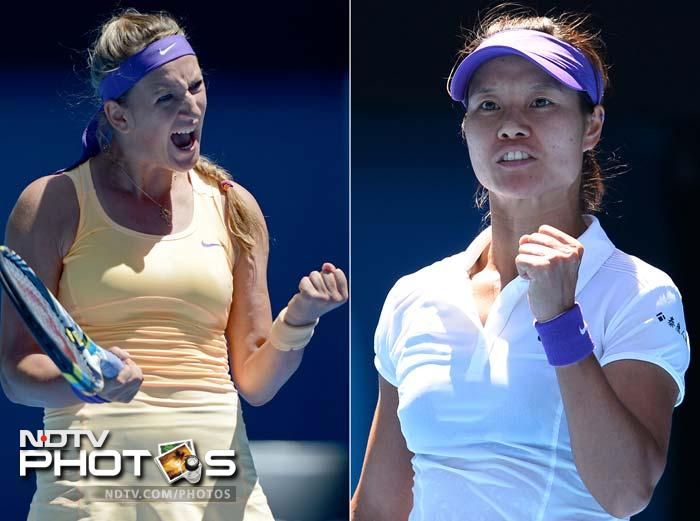 China's Li Na won the opening set of the Australian Open women's final against Belarus top seed Victoria Azarenka on Saturday. Li broke Azarenka's serve four times and dropped her serve three times to go one up in the best of three set final, 6-4.