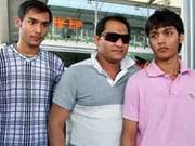 Photo : Celebs pray for Azhar's son