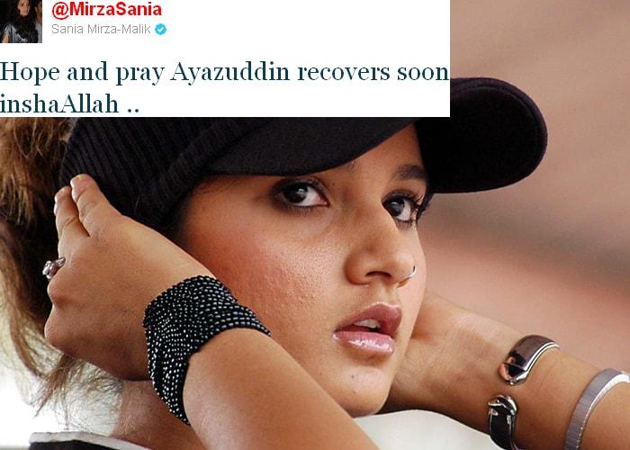 <b>Sania Mirza:</b> Hope and pray Ayazuddin recovers soon inshaAllah.