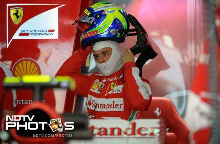 Ferrari's Felipe Massa topped the first practice session, with teammate Fernando Alonso finishing 2nd and Nico Rosberg third in his Mercedes.