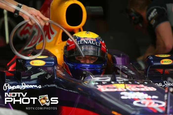 Red Bull's Mark Webber pipped partner Sebastian Vettel in the second practice. He was 8th in first, while 2nd in Practice 2.