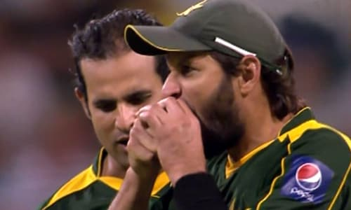 """After being thrashed by Australia in both Test and ODI series, Pakistan were playing the last ODI with the intention of salvaging the pride.<br><br> As regular captain Mohammad Yousuf missed the match officially due to a sore knee (though reports suggested he had differences with coach Intikhab Alam), Shahid Afridi lead the side as a stand-in skipper.<br><br>Just when everybody was impressed with the way Afridi was leading the side, there came his 'moment of madness'. During a Rana Naved ul Hasan over, he gnawed the ball like it was an apple.<br><br>Umpires hauled him before changing the ball. He pleaded guilty when he was charged by match referee Ranjan Madugalle with article 2.2.9 offence of ICC Code of Conduct for breaching Law 42.3 of the Laws of Cricket and was handed a ban of two Twenty20 Internationals.<br><br>Though he apologised for his action but his weak attempt of defending himself drew more flak than his action. He had said he was """"trying to smell the ball"""" and that """"there was no team in the world that doesn't tamper with the ball""""."""