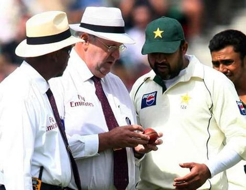 """There is something with Pakistan and ball tampering. During the fourth and final Test between Pakistan and England at the Oval in 2006, Pakistani players were accused of changing the condition of the ball. Television cameras caught the umpires Darrell Hair and Billy Doctrove discussing the condition of the quarter seam. The umpires imposed a five-run penalty against Pakistan for ball tampering.<br><br>After tea, Inzamam ul Haq-led team refused to take the field as a mark of protest. Consequently, the two umpires abiding by the laws of cricket, awarded the game to England.<br><br>But in July 2008 the International Cricket Council agreed in principle to alter the result to """"match abandoned as a draw"""" from a forfeited win for Michael Vaughan's men."""