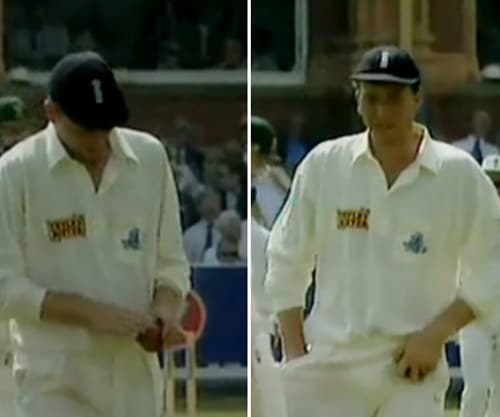 English captain Michael Atherton was accused of ball tampering during the a Test match with South Africa at Lords in 1994 after television cameras caught him reaching to his pocket and then rubbing a substance on the ball.<br><br>Atherton denied ball tampering, claiming that he had dirt in his pocket which he used to dry his hands. He was fined 2,000 pounds by match referee Peter Burge for the 'dirt in the pocket' incident.