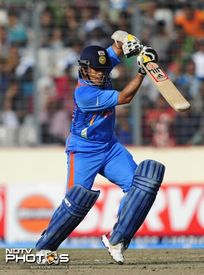 The day began with India being asked to bat and Sachin leading from the front to reach a brilliant milestone.