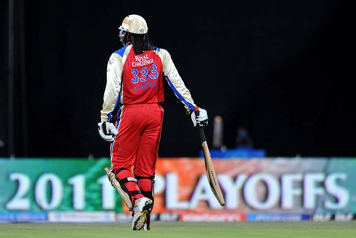 The start was the only setback for Bangalore after Chennai won the toss and opted to field first. R Ashwin sent back Chris Gayle early to seize the advantage.