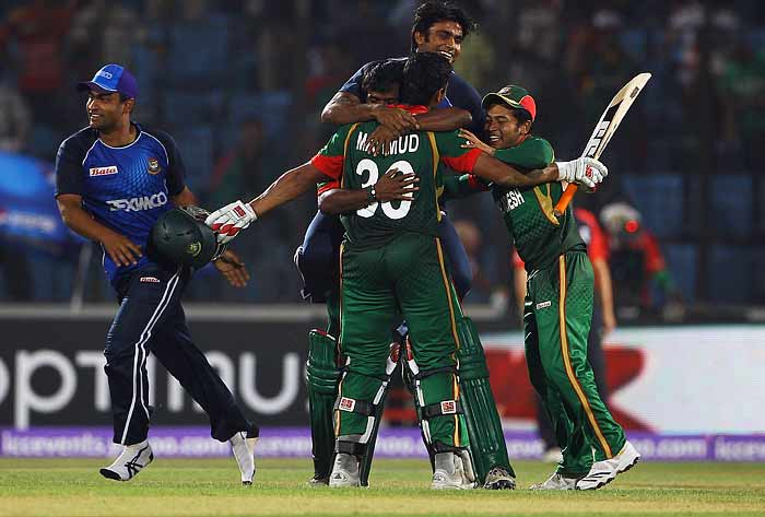 Hosts Bangladesh registered a 2-wickter win over England in their Pool A match at Chittagong on Friday.