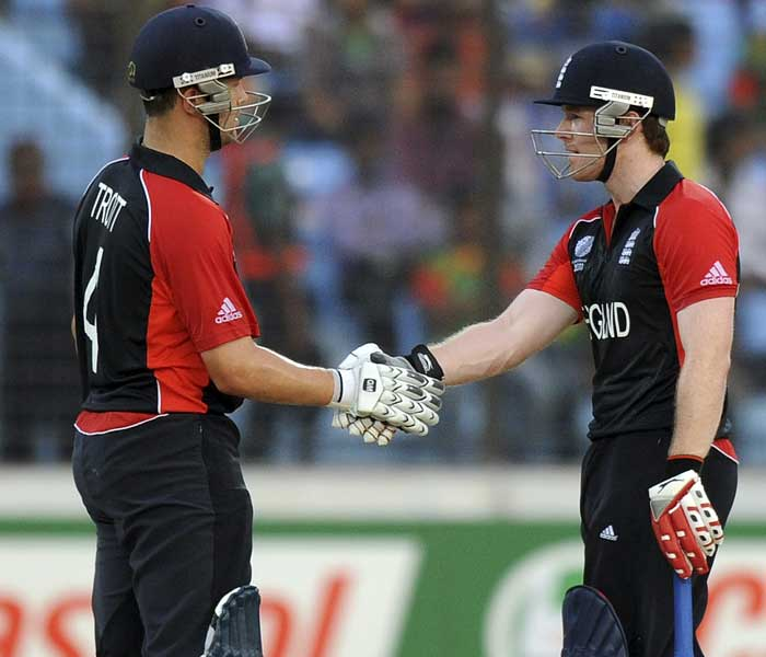 Trott was well supported by Eoin Morgan who hit 63 in quick time.