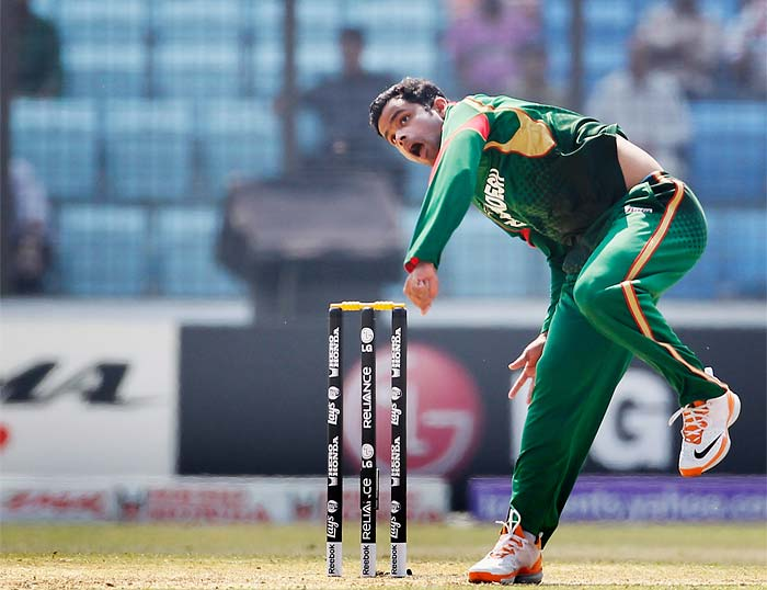 Left-arm spinner Abdur Razzak was the pick of the bowlers for Bangladesh, taking 3 for 29 in his 10 overs.