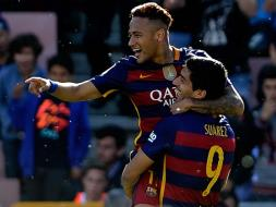 Photo : Luis Suarez Hat-Trick Takes Barcelona to La Liga Title