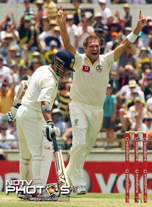 <b>SACHIN TENDULKAR:</b> This man looks jinxed. Or is it the pressure of bring up his 100th ton? Despite being in good form, the master batsman has failed to play one big knock. At Melbourne he scored 73 and 32, India lost it. At Sydney, which is one of his favourite grounds, he bettered himself and looked destined to create history there. He made 41 and 80. But what hurt India more than him missing his 100th century is the way the entire batting collapsed after his dismissal. <b> At Perth:</b> While everyone thought it might be at WACA where he would get what is rightly due, Sachin was trapped in front of the wicket by Ryan Harris for just 15 runs. And millions hopes were dashed.