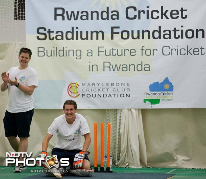 The attempt was in aid of the Rwanda Cricket Stadium Foundation -- a charity set up to build the first proper cricket ground in the African country.