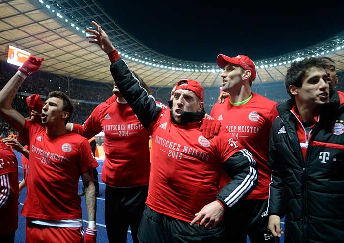 Bayern's 19th consecutive Bundesliga win secured their 24th title - their 23rd of the Bundesliga era. Bayern have also taken one game off their own record, set last season, for the earliest confirmed league win and are still on course to finish the season unbeaten.