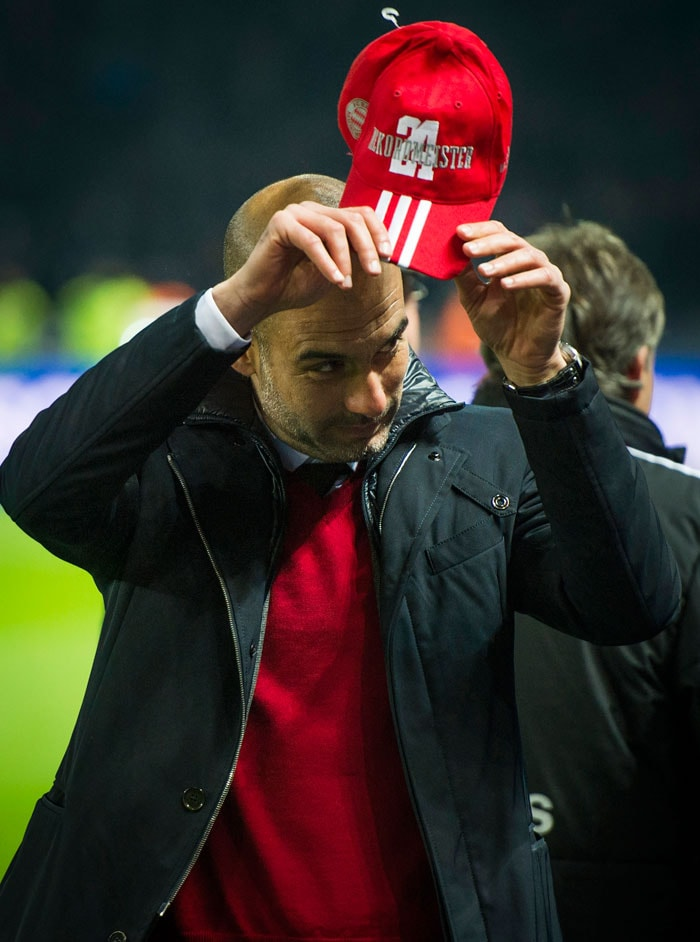 In his debut season, Guardiola has now won three titles in nine months after last August's UEFA Super Cup triumph and December's Club World Cup success. After the match Guardiola praised the efforts of previous Bayern manager Jupp Heynckes.