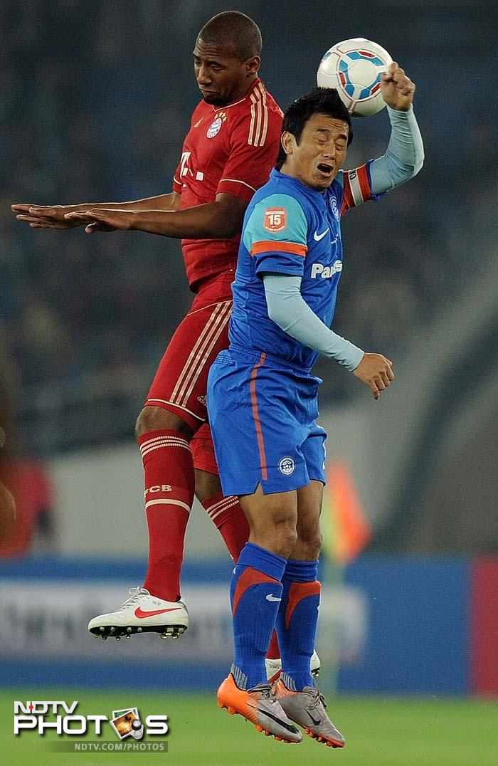 Bhutia played 85 minutes of the match and once called in for substitution, was bid farewell by a cheer that resounded all over the stadium.