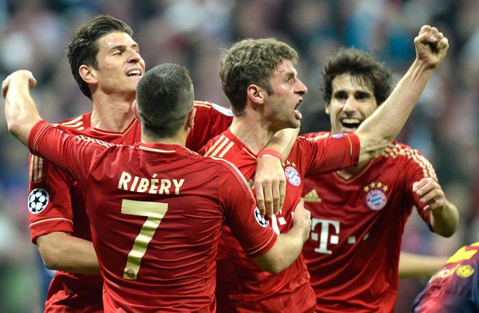 Thomas Mueller scored twice and was involved in both the other goals as well, as Bayern displayed a footballing masterclass at the Allianz Arena.