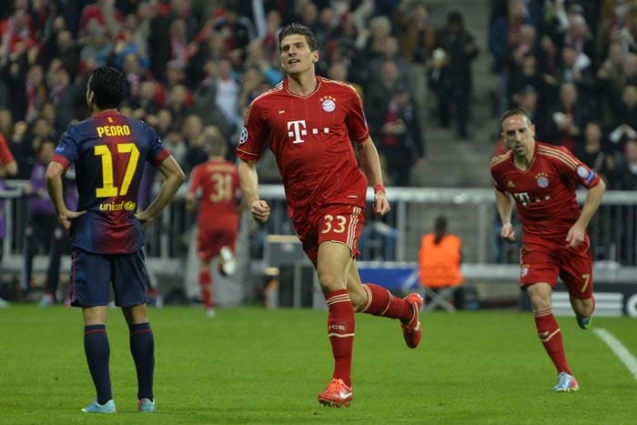 Mario Gomez, who has played second fiddle to Mario Mandzukic this season, completed just five passes all game but scored the crucial second goal.