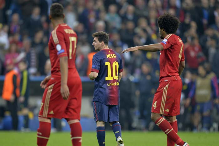 Lionel Messi was nursing a hamstring injury and was clearly not fully fit throughout the game. <br><br> Messi's impact was minimal on the game, with Bayern's Barzilian defender Dante curtailing the World Player of the Year.