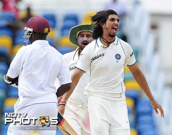 Dilip Sardesai Award for India's Best Cricketer in the 2011 Test series in the West Indies was presented to Ishant Sharma. He took 22 wickets from 3 Tests.