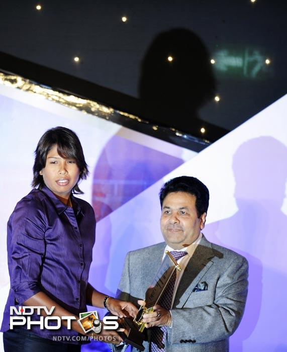 Jhulan Goswami was adjudged the best woman cricketer of the year. She was presented with the MA Chidambaram Trophy.
