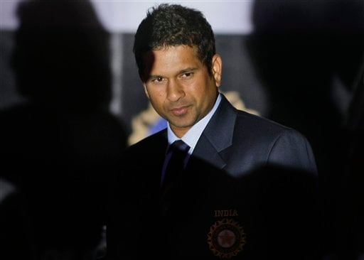 Indian cricketer Sachin Tendulkar looks on during the Board of Control for Cricket in India (BCCI) annual awards in Mumbai on Wednesday, February 18, 2009. (AP Photo)