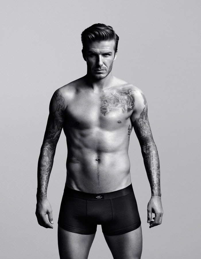 Soccer sensation David Beckham, known for his flamboyance both on and off the field, has been named as world's best underwear model by fashion designer Tommy Hilfiger. (Image credit AP)