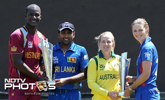 Teams were practicing, posing with the trophy, giving pressers and enjoying, even as the ICC World T20 final loomed large at the Sri Lankan horizon. One guy was conspicuous by his absence though and no points for guessing who - Chris Gayle. Despite being away from the glare, all eyes were literally on him. (All AFP Photos)