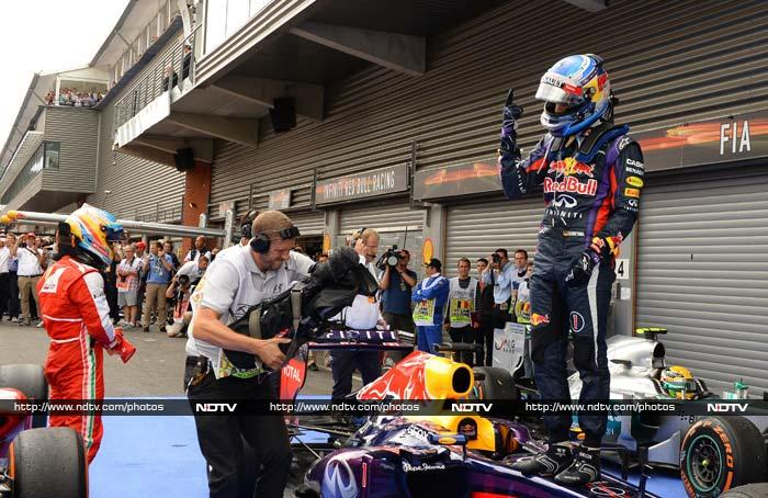 Vettel's win was the 31st of his career and lifted him 46 points clear of nearest rival two-time champion Spaniard Fernando Alonso of Ferrari in the title race.
