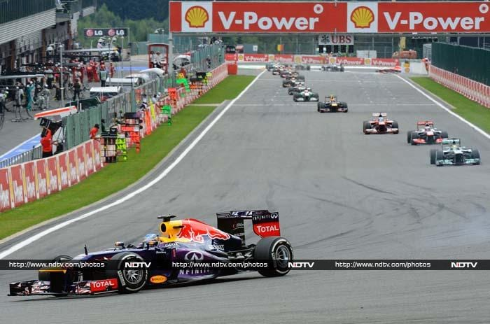 """Red Bull team boss Christian Horner hailed Sebastian Vettel's dominant display in Sunday's Belgian Grand Prix - and said it was a vital blow in their bid for a fourth consecutive title double. <br> """"It was a matter of getting the first corner OK and then Sebastian grabbed the opportunity at Eau Rouge,"""" said Horner."""