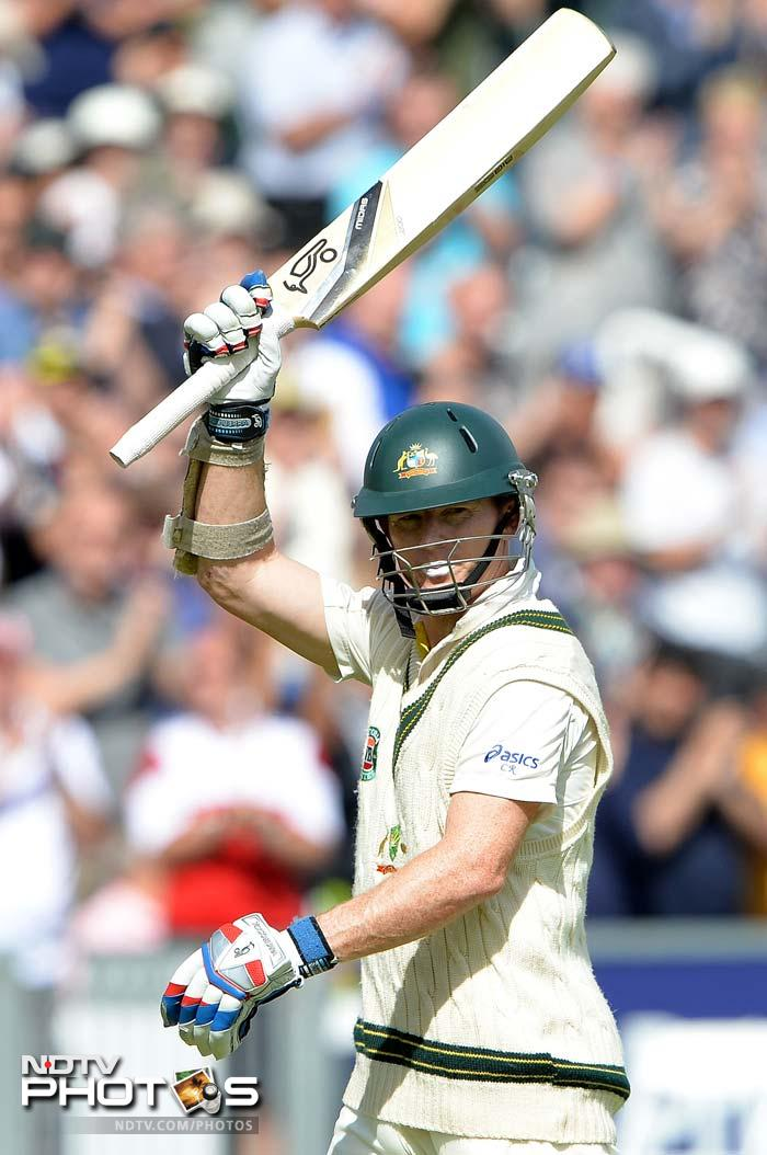 England dismissed Australia for 270, the tourists held to a slender first innings lead of 32.