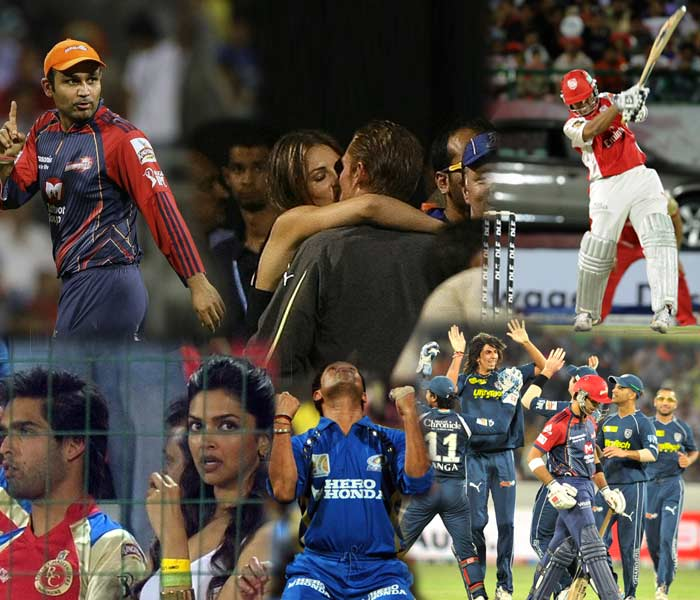 Television ratings may not have done full justice to what the Indian Premier League has been used to. The fourth edition though has not been short of thrilling highs and sensational lows. A look at what this year has thrown up, apart from the entry of new teams and the exit of the old war-horse: Lalit Modi. (AFP and AP images)
