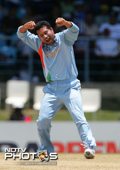 <b>5/32 vs Australia: </b>Most of Sachin Tendulkar's magic moments have come with the bat but his unpredictable yet purposeful bowling can prove to be quite a menace for batsmen around the world. In a 1998 ODI, Australia were 203/3 in 31 overs in pursuit of a 310-run target when Sachin came on and dismissed five batsmen for just 32 runs. India went on to win the match by 41 runs.