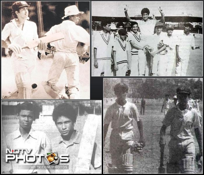 <b>Triumphs at school: </b>Sachin Tendulkar's first shot to fame came when he - alongside his partner Vinod Kambli - scored a massive 664 runs together in a Lord Harris Shield inter-school game against the Xaviers school. Sachin scored an unbeaten 326, enough to lay the platform for the greatest batsman India has ever produced.