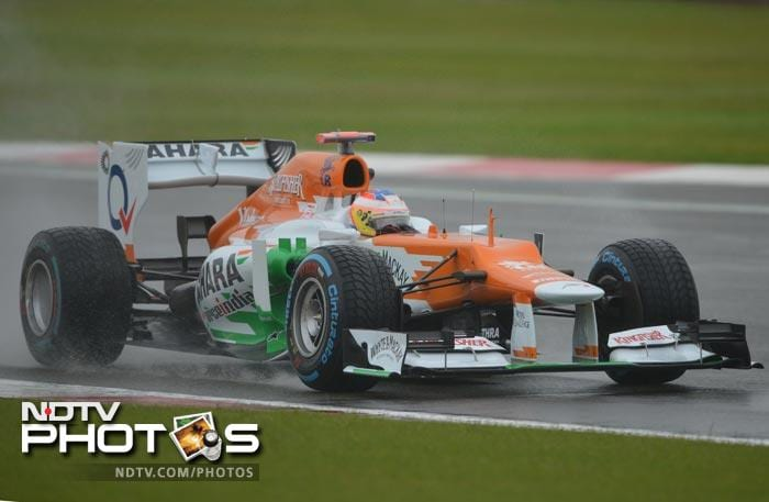 Nico Hulkenberg was pushed down to the fourteenth place on the start of the grid for Sunday's race after a gearbox change penalty. His teammate Paul di Resta, though, was the lucky one to enter the top ten.