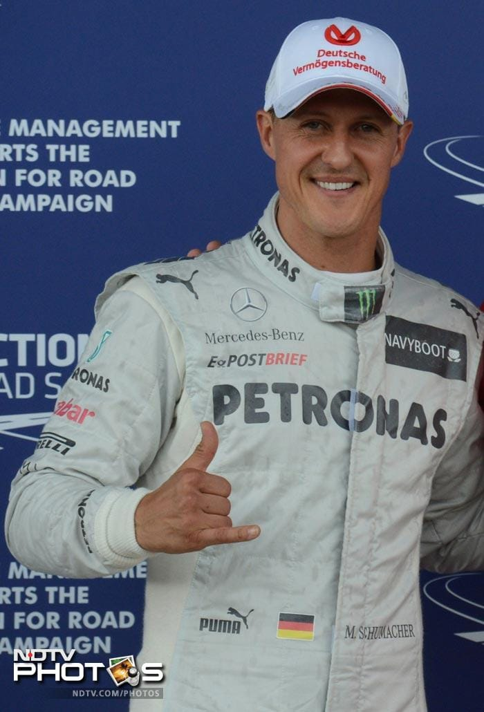 Mercedes had a top three finish as Michael Schumacher took the third position ensuring them a good start in the final race.