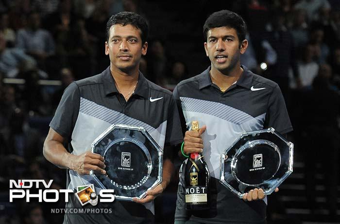 It might have been history for Mahesh Bhupathi and Rohan Bopanna had they won the year-ender as they would have become the first Indians to do so since Vijay Amritraj in 1977. Instead it was a loss as well as a split afterwards, which both players confirmed. (All AFP Photos. Text from AFP and PTI)