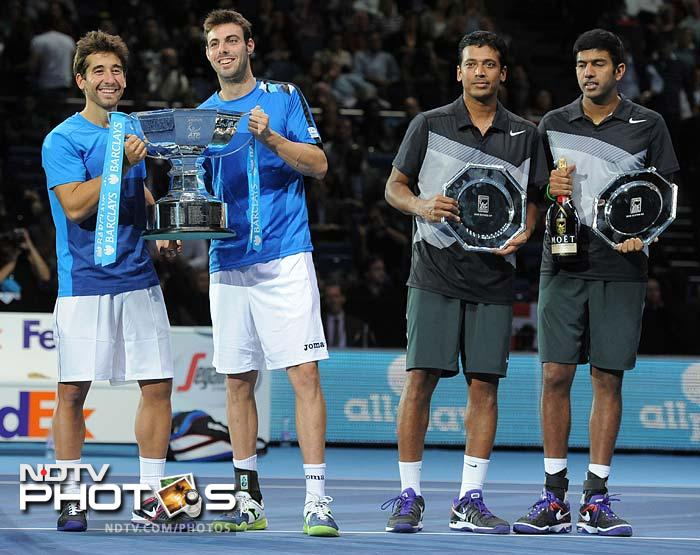 Bopanna, 32, will play with American Rajeev Ram, while Bhupathi will partner Daniel Nestor in the next season, according to reports. So, this will probably be the last that the pair are seen together, holding a trophy that is.