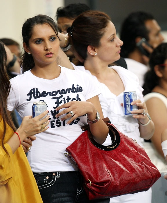 Indian Tennis star Sania Mirza is spotted during the celebrity cricket match. (AP Photo)