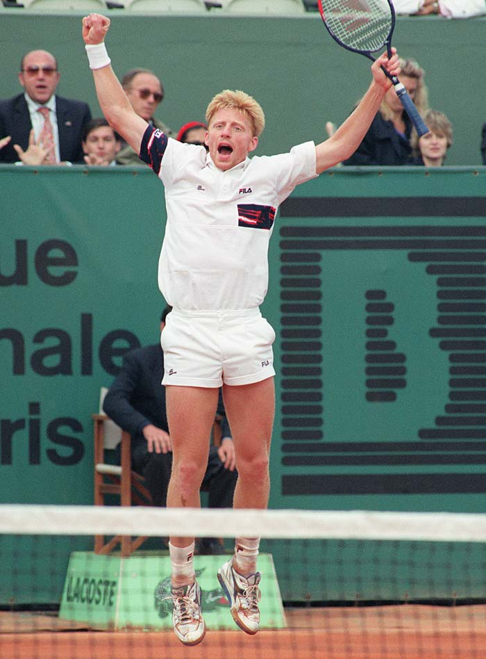 In normal circumstances, Becker and Johnson are 'lookalikes'. But put a tennis racquet in either hand and the differences between the pair are there for all to see.