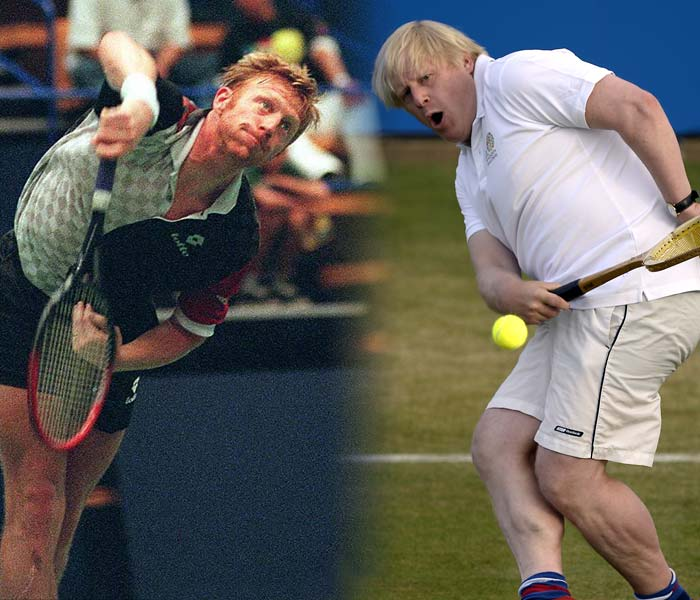 One is the Mayor of London. The other is a 6-time Grand Slam Champion. One has built a reputation of playing jester, especially in sports. The other made his career on the tennis courts. Meet Boris Johnson and Boris Becker, who with blond locks and cheeky grins, share more than just a name.