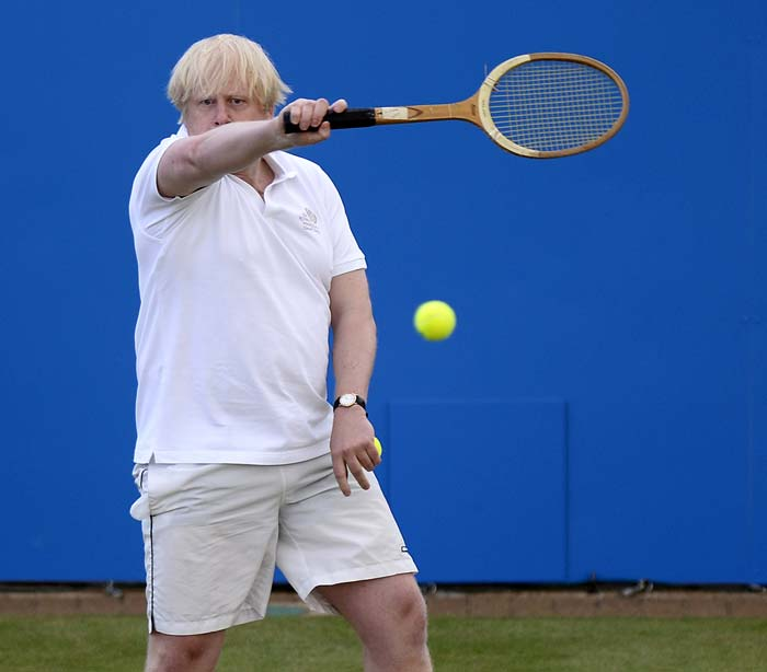 As Mayor of London, Johnson visited India last year as part of the build-up to the Olympic Games. At an event in Mumbai Johnson was vocally mistaken for Becker, as confusion between the pair went global.