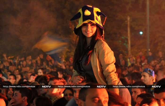 Thousands of people took to the streets on Tuesday to celebrate Bosnia's feat.
