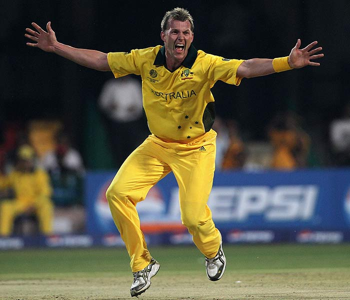 Aggression comes naturally to pacers. Brett Lee is no exception. His thirst to be amongst the wickets is second to no other as can be judged from this appeal against Zimbabwe. (Getty Images)