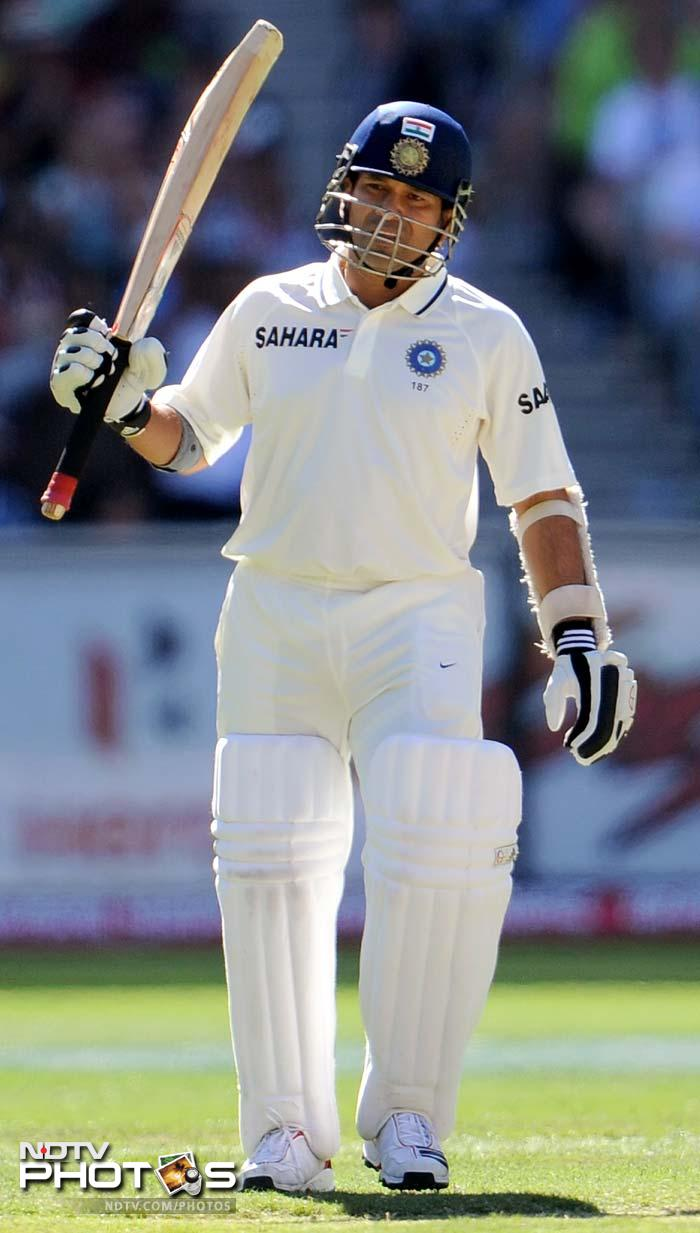 Sachin, however, achieved another milestone of completing 64th Test match fifties. With this half-century he has overtaken Allan Border's tally and set a record for most fifties in Tests.