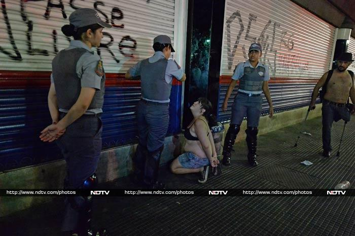 It was the latest in a series of protests to hit Brazil since last June.