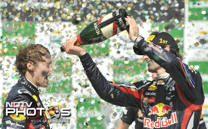 Mark Webber won the final F1 race of the 2011 season with Red Bull teammate and World Champion Sebastian Vettel finishing second. A look at all that happened on raceday, from the land of the samba! (AFP and AP images)