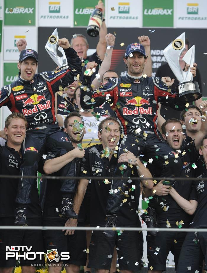Real honour though went to the Red Bull team as they completed a season in which the team and the two drivers proved that they truly were unmatchable.
