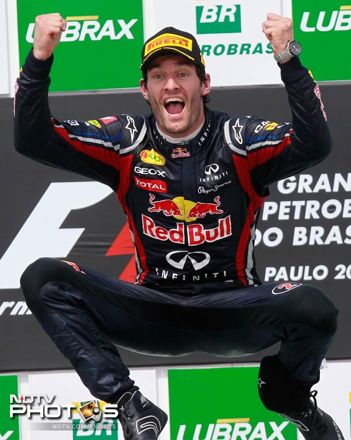It was a fantastic finish for Webber who ended the season on the third spot, a point ahead of Fernando Alonso.