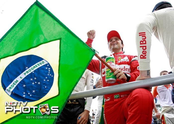 This was Massa's 100th Grand Prix race and it came in front of home fans in Sao Paulo.